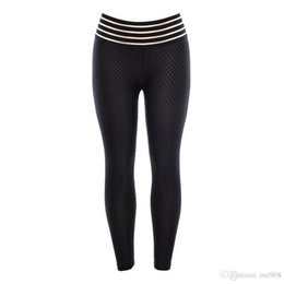 sexy running clothes UK - Sexy women Hot Yoga Pants Black Sport leggings Push Up Running Tights Gym Clothing High Waist Fitness Athletic Trousers