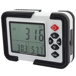 co2 detectors NZ - Wholesale -Digital Co2 Monitor Co2 Meter Ht -2000 Gas Analyzer Detector 9999ppm Co2 Analyzers With Temperature And Relative Humidity Test