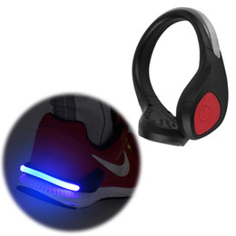 walking lights UK - 2 modes Bright Luminous LED Shoe bike Light Clip Warning Lamp fits Night Walking Running bike drop shipping #181455