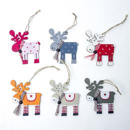 $enCountryForm.capitalKeyWord Australia - 3 Pcs Elk Pendant Festive Party Supplies Christmas Tree Ornaments Deer Pendants Xmas Party Decor Home Wood Painted