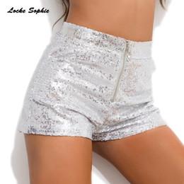 Ds club online shopping - High waist Women s Sexy shorts Summer Sequins Splicing zipper Sexy Super shorts Ladies Skinny DS club super short Girls
