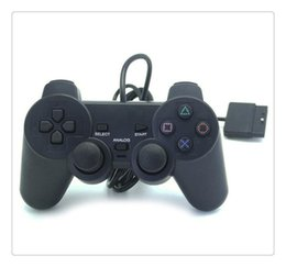 Discount ps2 wireless controller freeshipping - Wired Controller Para for PS2 Joystick Gamepad For Game Console Playstation 2 Black Hot Sale Wholesale Price