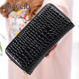 $enCountryForm.capitalKeyWord Australia - Women's Long Wallet Double Zipper Large Container Stone Pattern Lady Clutch Bag Coat of Paint