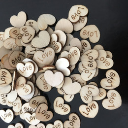 Diy Table Decorations For Parties Australia - 100pcs Love Heart Shape Wood Wooden Craft For Wedding Table Home Decor DIY Birthday Decoration Party Favor Scrapbooking 62071
