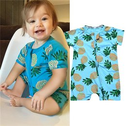 Red Blue Tutu Infant Australia - Blue Trees Baby Print Rompers 40+ Designs Boy Girls Cactus Forest Road Newborn Infant Baby Girls Boys Summer Clothes Jumpsuit Playsuits