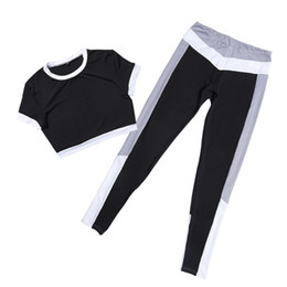 Fitness Clothing For Women UK - Female Set Sport Suit Clothes Sports Top Yoga Pants Wear For Women Sportswear Woman Gym Fitness Clothing Sexy Yoga Set Tracksuit