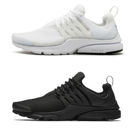2018 Running Shoes Presto BR QS Womens Mens Essential Triple White Black Breathe Prestos Trainers Trainning Walking Sneakers Size 36-46 on Sale