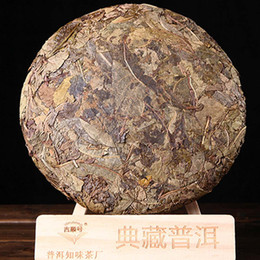 green tea cakes UK - 357g Raw Pu Er Tea Yunnan Gold Leaf Old Yellow Slices Ancient Tree Puer Tea Organic Pu'er Oldest Tree Green Puer Natural Puerh Tea Cake