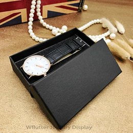 wholesale boxes packaging NZ - Wholesale 100pcs lot Black Paper Watch Box Watch Packaging Box Bracelet Holder Jewelry Case Gift Box for Organizer