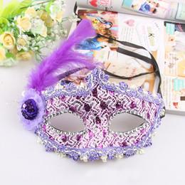 $enCountryForm.capitalKeyWord Australia - OUDIROSE Women's Sexy Black Blue Pink Purple Lace Half Face Blinds Halloween Masquerade Party Mask Decora Single Party Supplies