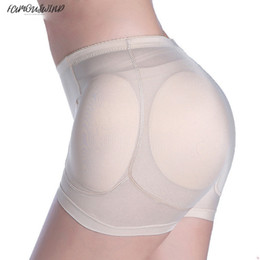 sexy firm control shapers UK - Women Sexy 4Pcs Pads Enhancers Fake Fur Ass Butt Hip Lifter Shapers Control Panties Removable Padded Slimming Underwear