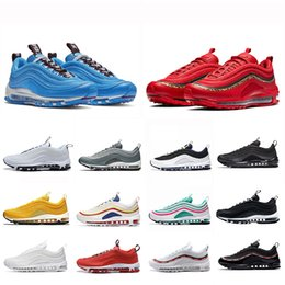 56230e83 2019 Air MAX 97 Cushion SE UNDEFEATED Triple white balck Yellow Silver  Bullet Metallic Gold South Beach Gym red running Men women sports Sneakers