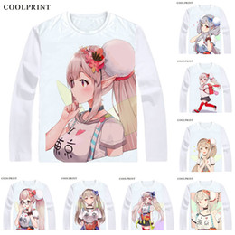 Vintage T Shirts Men Australia - Elf no Elu Elf Noel T Shirt Virtual Youtuber Vtuber Artificial Intelligence AI Men T-shirt Casual Vintage Printed Long Sleeve Shirts