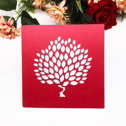 $enCountryForm.capitalKeyWord NZ - Modern Style Wedding Invitation Cards Design With Big Tress Earth Day Theme Party Celebrate Festival Invitations Cards