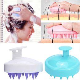 $enCountryForm.capitalKeyWord NZ - Silicone Head Body To Wash Clean Care Hair Root Itching Scalp Massage Comb Shower Brush Bath Spa Anti-Dandruff Shampoo