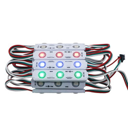 $enCountryForm.capitalKeyWord UK - Umlight1688 100 PCS WS2811 2811 IC 3led 5050 RGB LED Pixel Digital Module String Light Waterproof DC12V Injection ABS Material