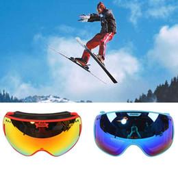 Mirrored Ski Goggles Australia - For PROPRO Double Lens Detachable Anti-fog and Windproof Warm Ski Goggles Snow Mirror