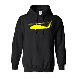 China Sweatshirt For Men 2018 Hot Sale Thick Hoodie Print Black Hawk Helicopter Hoodie Winter Warm Coat cheap hawks sale suppliers