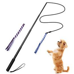 $enCountryForm.capitalKeyWord Australia - Retractable Dog Puppy DogTrainer Dog Tease Cat Toy Training Pet Training Stick Chew on Toys Funny Gifts 90CM