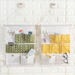 $enCountryForm.capitalKeyWord NZ - 3PCS Cotton Linen Hanging Storage Bag 7 Pockets Wall Mounted Wardrobe Hang Bag Wall Pouch Cosmetic Toys Sundries Organizer M09