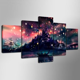 Chinese  Fotos Sala Cartel Marco Harry Potter Hogwarts Lienzo,5 Pieces HD Canvas Printing New Home Decoration Art Painting Unframed Framed manufacturers