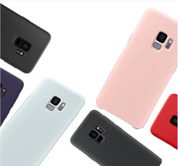 SamSung a8 online shopping - Hot Hybrid Gel Rubber Liquid Silicone Case Cover Protector For Samsung Galaxy S10 lite Plus S7 edge Note A8 withbox Colorful Case
