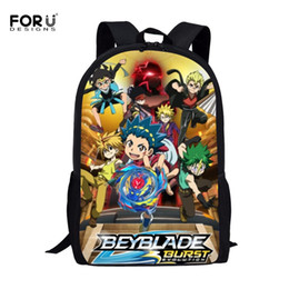 blue black beyblade Australia - FORUDESIGNS Anime Beyblade Burst Evolution Prints Children School Bags for Kids Boys Schoolbags School Backpack Student Bookbag #31114