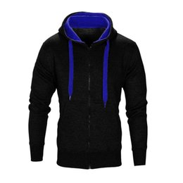China New Spring Autumn Bomber Hooded Jacket Men Casual Zipper Long Sleeve Solid Gym Sports Coat Jacket Thin Coat Brand Clothing cheap sports jacket wholesale suppliers