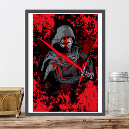 Cartoon Star Picture Australia - Darth Vader And New Star Anakin Skywalker Paintings on Wars Canvas Modern Oil Printing Art Poster Decorative Wall Pictures Home Decoration