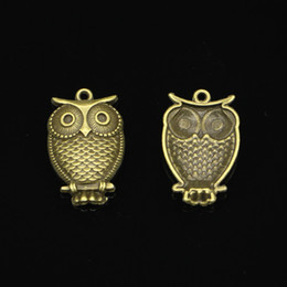 antique branch pendant Australia - 67pcs Charms owl standing branch Antique Bronze Plated Pendants Fit Jewelry Making Findings Accessories 28*18mm