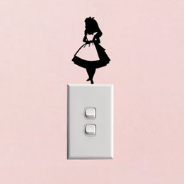 $enCountryForm.capitalKeyWord Australia - Alice In Wonderland Light Switch Stickers Decor Fashio Personalized Decorated Modern Home Accessories Home Decal Children Room