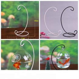 rack for glasses NZ - Ornament Display Stand Iron Hanging Rack Holder For Hanging Glass Globe Air Plant Terrarium Witch Ball Wedding Home Decor GGA501 35pcs