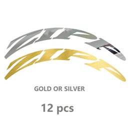 Cycling Road Rims Australia - Gold and Silver Color 700C Road bicycle stickers cycle road wheels decal for zip 30 30 38 45 50 55 60 80 88mm rim