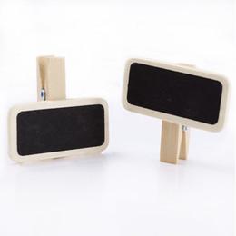 $enCountryForm.capitalKeyWord UK - 50 Mini Blackboard Wood Message Slate Rectangle Clip Clip Panel Card Memos Label Brand Price Place Number Table