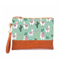 Wristlet Cosmetic Bag Australia - Fashion Cosmetic Bag Designer Soft Canvas Zipper Day Clutches with Handle Ladies Purse Travel Toiletry Famous Brand Wristlet Bag