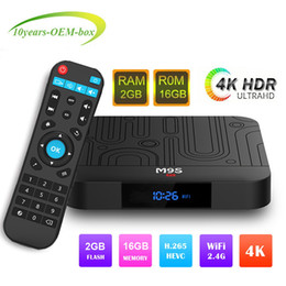best media player 2019 - Best selling M9S W1 android 7.1tv box Quad Core 2GB 16GB Amlogic S905W Streaming Media Player Smart tv HD 4K WiFi Set To