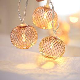 Battery Plugs Australia - 50 Led Fairy Gold Lantern Ball Battery Plug String Lights Luminaria 5m LED Decoration For Christmas Garland Wedding guirlande