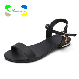 $enCountryForm.capitalKeyWord Australia - S.romance Women Sandals Genuine Leather Soft Rubber Sole Basic Buckle Strap Size 34-43 Women's Summer Shoes Ss168 MX190727
