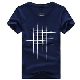 b9d45582 good quality Mens T-shirts Summer Short Sleeve T Shirt Men Simple Creative  Design Line Cross Print Cotton Brand Shirts Men Top Tees