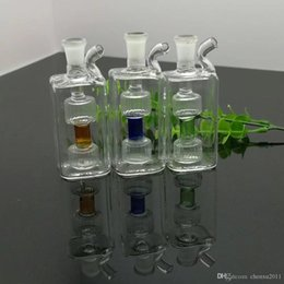 square water bong Canada - Mini square glass water bottle Wholesale Glass bongs Oil Burner Glass Water Pipes Oil Rigs Smoking, Oil.