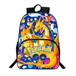 $enCountryForm.capitalKeyWord Australia - Anime Backpack Pocket Monster School Bag Pikachu School Backpacks Girls Boys Toddler Bag Kids Book Bags