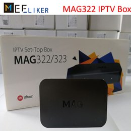 Stb iptv online shopping - New arrived MAG322 IPTV SET top box streaming BCM75839 chipset M Linux decoder HDMI internet HD media player H STB MAG