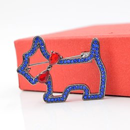 $enCountryForm.capitalKeyWord Australia - Navy Blue Color Small Dog Brooch Puppy Animal Brooches for Women Summer T-shirt Brooches Drop Shipping Jewelry Gift