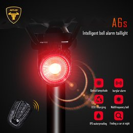 $enCountryForm.capitalKeyWord Australia - Bicycle Wireless Anti-theft Alarm Lock Bike Remote Control Rear Light Bell Cycling Taillight Bicicletas Smart Lamp Antusi a6s