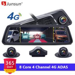 "Dvr Channel Cameras Australia - Junsun K910 ADAS 4 Channel 8 Core Android Car DVR Camera Video Recorder Mirror 4G 10"" Media Rearview Dash Cam FHD 1080P"