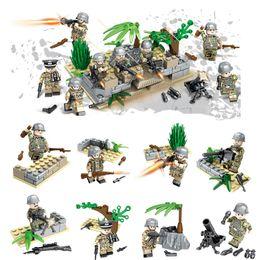 $enCountryForm.capitalKeyWord Australia - New Arrival 8pcs Lot World War II Military Mini Toy Figure Brick WW2 The Battle of Berlin German Army Building Block