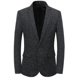 Spring Slim Blazers Australia - New Blazer Men 2019 Spring Chinese Style Business Casual Stand Collar Male Blazer Slim Fit Mens Jacket Size M-3XL
