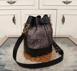 Sack coat online shopping - fend Designers luxury handbags purses women Bucket Shoulder Bag Coating meshLeather Beige