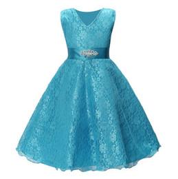 Sheer Flower Dress UK - New Shinning Girls Pageant Dresses Sheer Neck Beaded Crystal Satin Mint Green Flower Girl Gowns Formal Party Dress For Teens Kids lw06