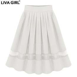 Wholesale long skirts for sale - Group buy For Women classic Tulle Skirts Long summer Sexy white Splicing Elastic high waist Size Chiffon Pleated sheer casual skirt